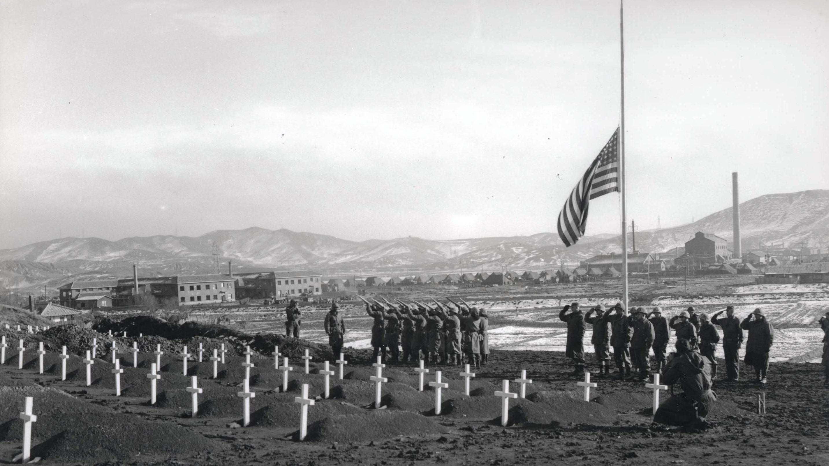 US Marine Cemetery, Hamhung, North Korea Photo Credit: US Marine Corps Archives and Special Collections