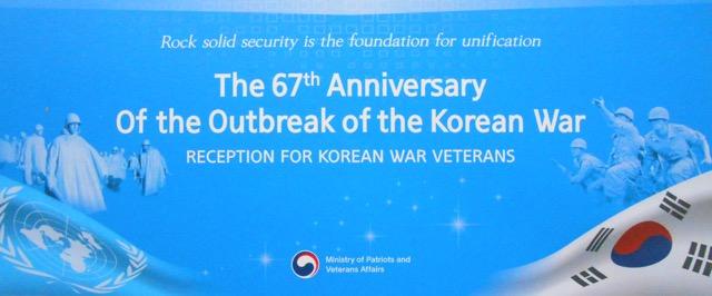 Invitation Korean War