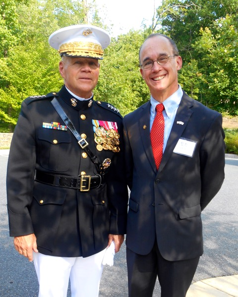 Ned with Commandant of the US Marine Corps, Gen. Robert Neller