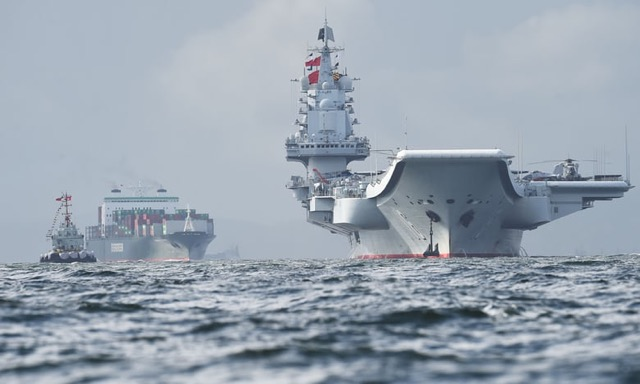Chinese aircraft carrier, Liaoning. (Photograph: Anthony Wallace/AFP/Getty Images)