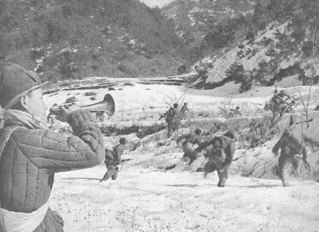 The Chinese attack at Chosin