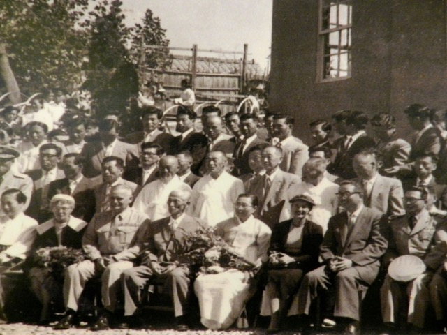 Col. Forney (third from left on front row) with Dongcheon Church congregation, September 27, 1959