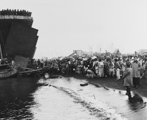 Refugees at Hungnam, Dec. 1950