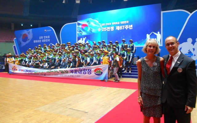 Alice and Ned at the June 25 Ceremony, Jamsil Olympic Indoor Stadium