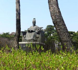 King Sejong statue in Yeouido, Seoul