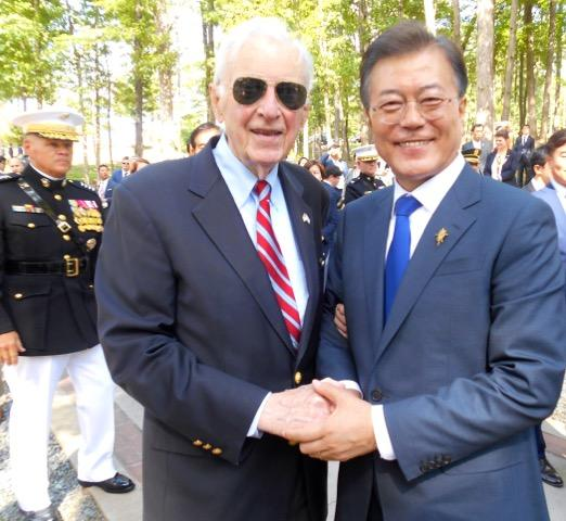 Bob Lunney and Moon Jae-in