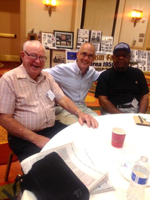 Ned with Chosin Few veterans at the Chosin Few reunion in San Diego 2015