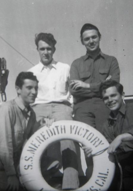 4 crew members of Meredith Victory, 1950