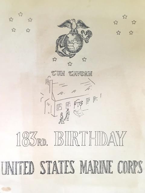 USMC Birthday Ball invitation 1958