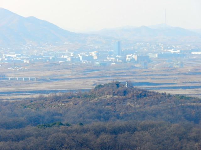 A view of Kaesong, North Korea