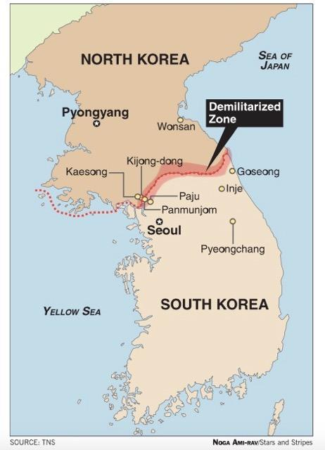 Map of DMZ