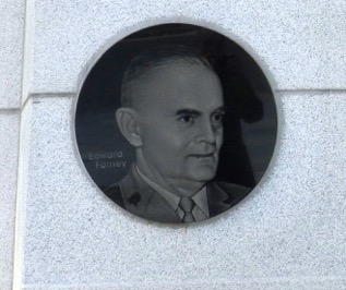 Col. Forney's portrait on Hungnam Memorial at Geoje Island.