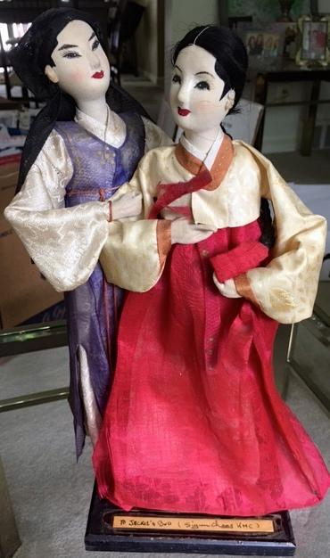 Hanbok dolls sent by Capt. Chang's wife for Bud Ford's wedding