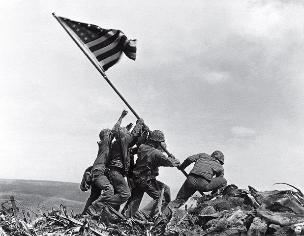 Raising of the flag at Iwo Jima