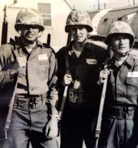 Lt's Finley, Ford, and Chang at Camp Upshur