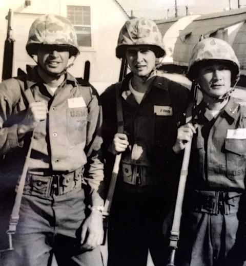 Lt's Finley, Ford, and Chang at Camp Upshur