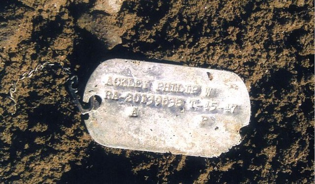 Dog tag of Philip Ackley